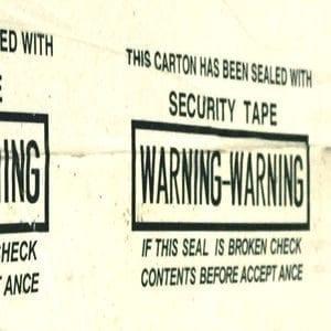 Băng dính in cảnh báo