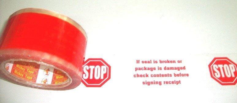 Băng dính in logo cảnh báo