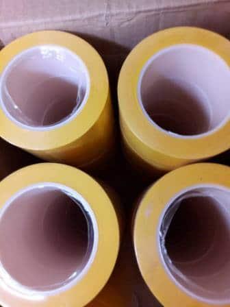 Băng dính dán nền dán sàn  vàng lõi nhựa