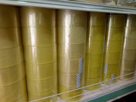 Băng keo trong vàng chanh